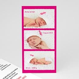 """Geburtskarten für Mädchen - Babykarte """"Multiphoto"""" - 1"""