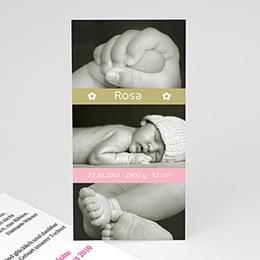 Geburtskarten für Mädchen - Babykarte Lea - 1