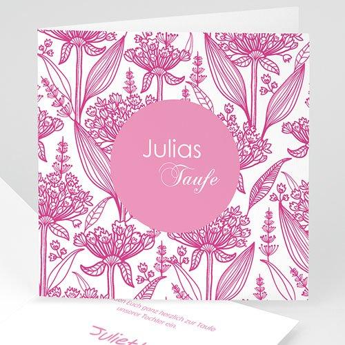 Einladungskarten Taufe Mädchen - Floral Rosa 22098