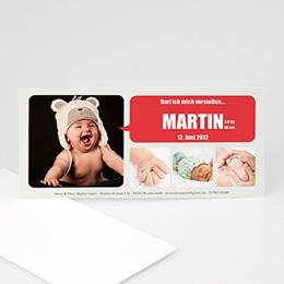 Babykarten für Jungen - Geburtskarte Milo - 1