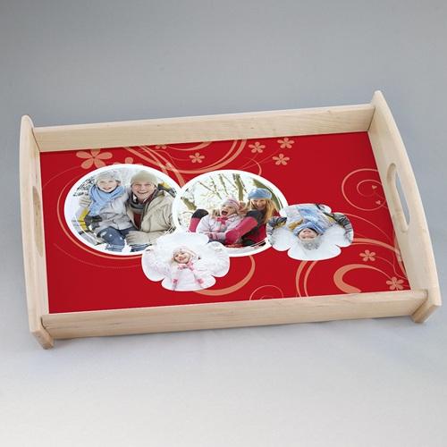 Foto-Tablett  - Verpieltes Design rot 22202