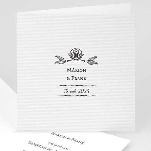 Hochzeitseinladungen modern - Vintage Ornament 22288