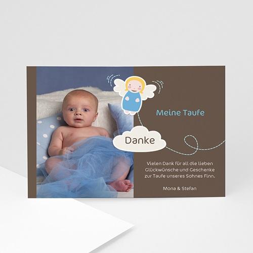Dankeskarten Taufe Jungen - Blue Angel 22372