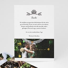 Danksagungskarten Hochzeit  - Vintage Ornament - 1