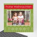 Weihnachtskarte grün - 1