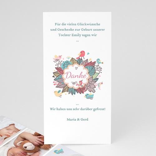 Dankeskarten Geburt Mädchen - Vogelkonzert 22480