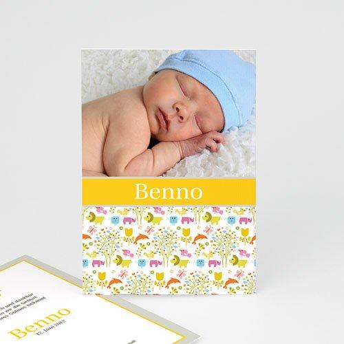 Babykarten für Jungen - Tierbabys 2254