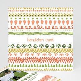 Danksagungskarten Hochzeit  - Pastellfarbene Motive - 1