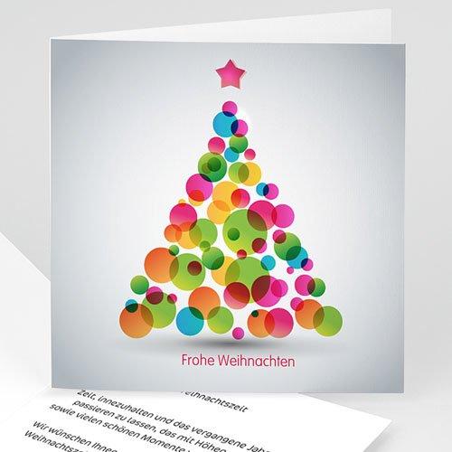 Weihnachtskarten - Bunter Weihnachtsbaum 22593