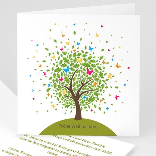 Weihnachtskarten - Schmetterlingsbaum 22611