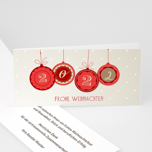 Weihnachtskarten - Kugeln 2014 22814