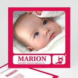 Geburtskarten für Mädchen - Babykarte Yara - 1