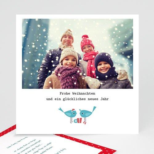 Weihnachtskarten - Türkisfarbene Vögel 22862