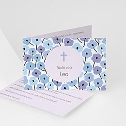 Einladungskarten Taufe Jungen  - Fleurs et Croix - 1