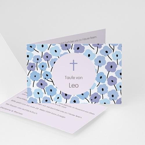 Einladungskarten Taufe Jungen  - Blümchen 22930