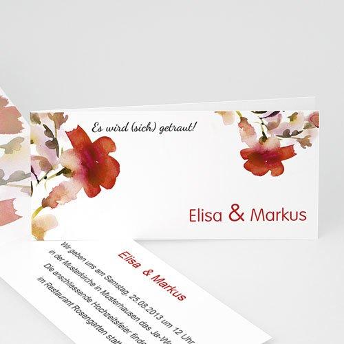 Hochzeitseinladungen modern - Blumendesign 22973