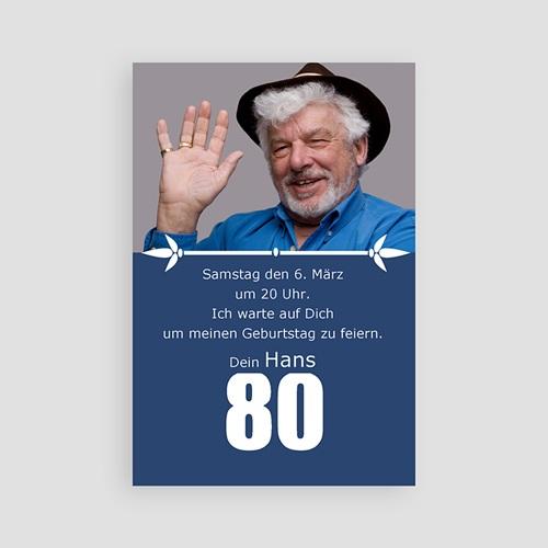 Einladungskarten Geburtstag 80 Jahre - 04080-GI2-R