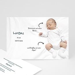 Geburtskarten selbst gestalten  - Liebespfeile - 1