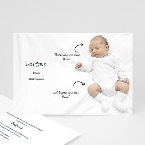 Geburtskarten selbst gestalten  - Liebespfeile 23055