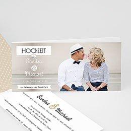 Hochzeitseinladungen modern - Venedig, Gondel und Liebe - 1