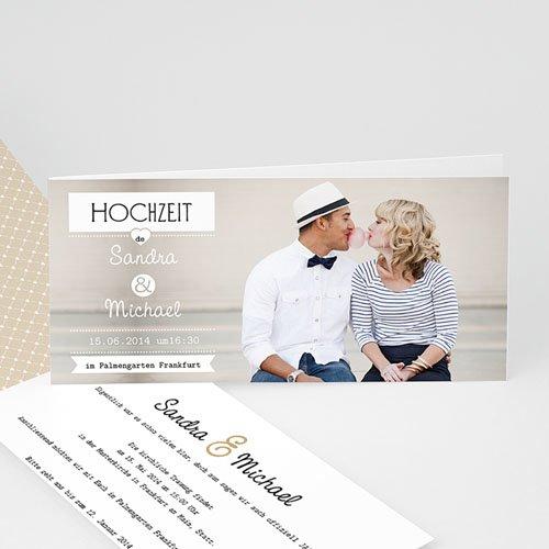 Hochzeitseinladungen modern - Venedig, Gondel und Liebe 23083