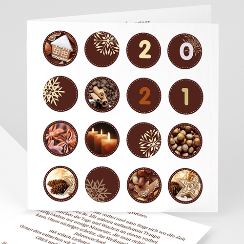 Weihnachtskarten - Kreisförmig 23101