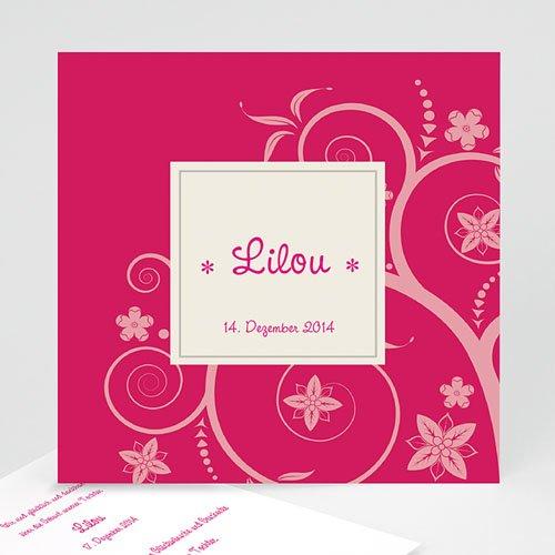 Geburtskarten für Mädchen - Babykarte Rosa 23117