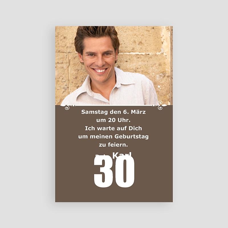 Einladungskarten Geburtstag 30
