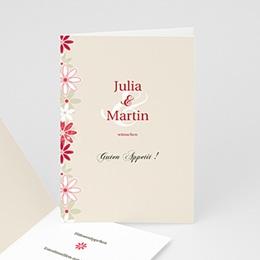 Menükarten Hochzeit  - Hochzeitskarten Blumen - 1