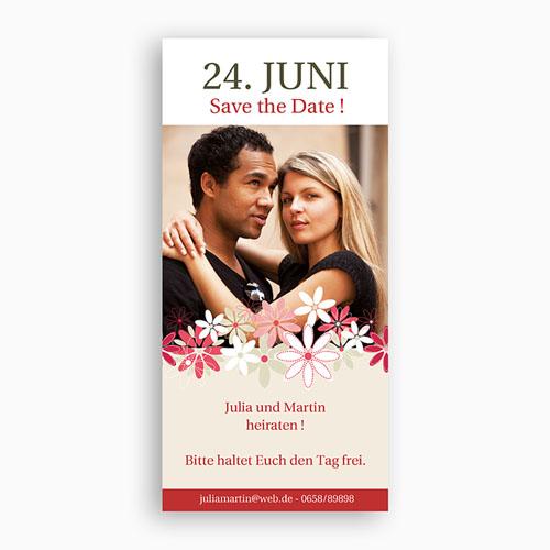 Save The Date  - Karte Blumen 1 2348