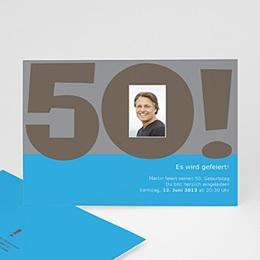 Runde Geburtstage - 50 Jahr blau - 1