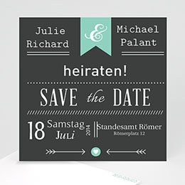 Save The Date  - Vintage Kreide - 1