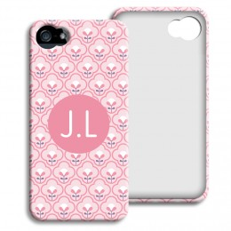 Case iPhone 5/5S - Rosa Tapetenmuster - 1