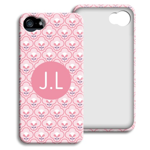Case iPhone 5/5S - Rosa Tapetenmuster 23788