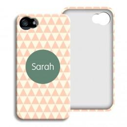 iPhone Cover NEU - Zickzackmuster rosa - 1