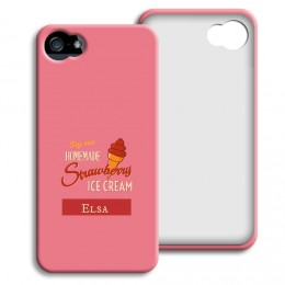 Case iPhone 5/5S - Homemade Strawberry Ice Cream - 1