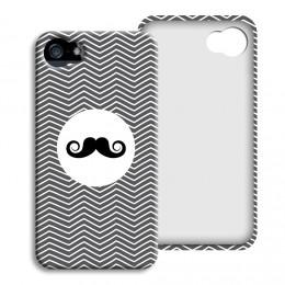 iPhone Cover NEU - Monsieur schwarz-weiss - 1