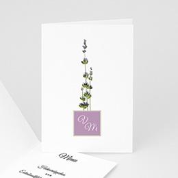 Menükarten Hochzeit  - Lavendel - 1