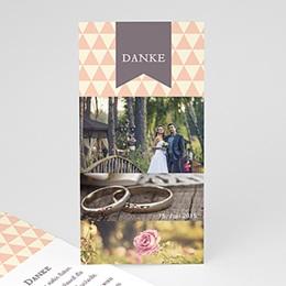 Danksagungskarten Hochzeit  - Schlichtheit - 1