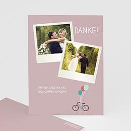 Danksagungskarten Hochzeit  - A bicyclette - 1
