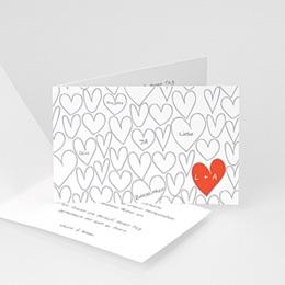 Hochzeitseinladungen modern - Gezeichnete Herzen - 1