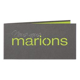 Hochzeitseinladungen traditionell - Marions - Vert - 1