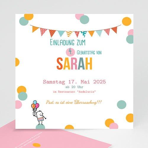 Geburtstagseinladungen Jungen - Pailletten 24496