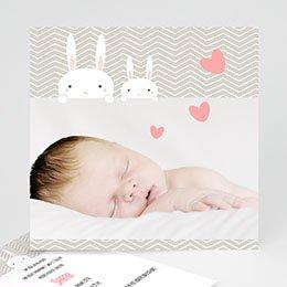 Geburtskarten selbst gestalten  - Häschen - 1