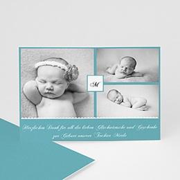 Dankeskarten Geburt Mädchen - Babykarte Camille - 1