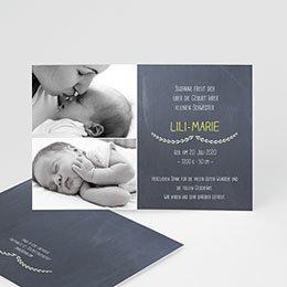 Geburtskarten selbst gestalten  - Krönchen