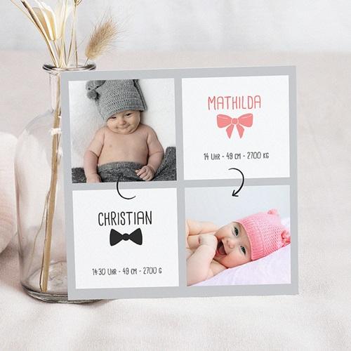 Babykarten für Zwillinge gestalten - Zwillinge 24759