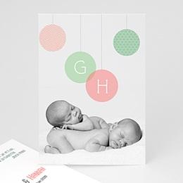 Geburtskarten für Mädchen - Zwillinge - Foto - 1