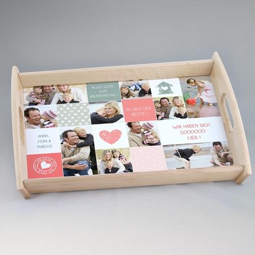 Foto-Tablett  - Collage zum Valentinstag 24836