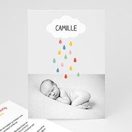 Einladungskarten Taufe Mädchen - Regenbogenfarben - 1